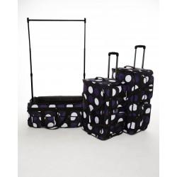 Rac n Roll Outfit Bag - Purple Polka Dot
