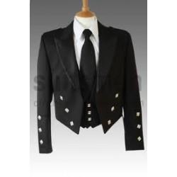 Black Prince Charlie Jacket and Vest - Ex Rental