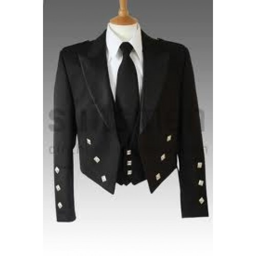 Black Prince Charlie Jacket and Vest - Ex Rental